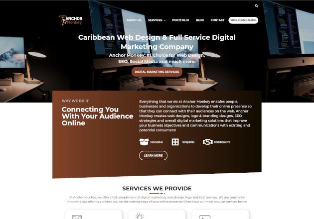 anchor monkey website redesign