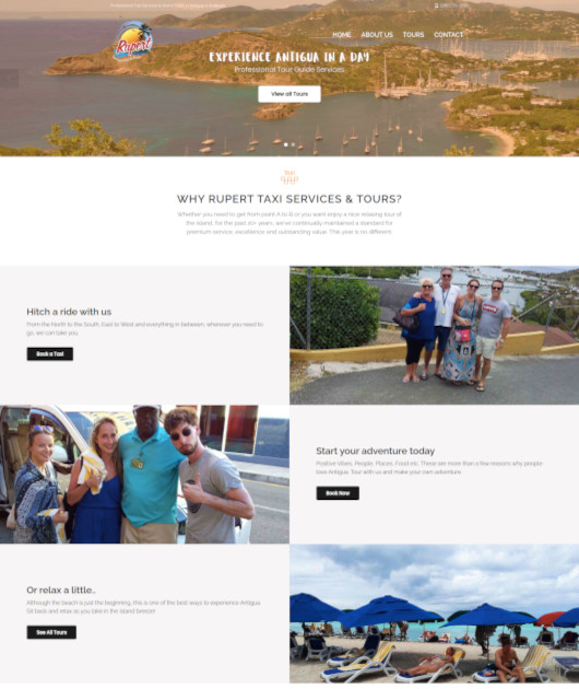 Rupert Taxi Services and Tours website design by anchor monkey